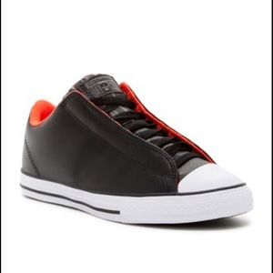 Converse Youth Boys All Star Low Top Leather Black